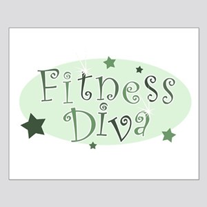 """Fitness Diva"" [green] Small Poster"